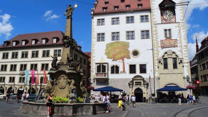 ヴュルツブルク市庁舎広場