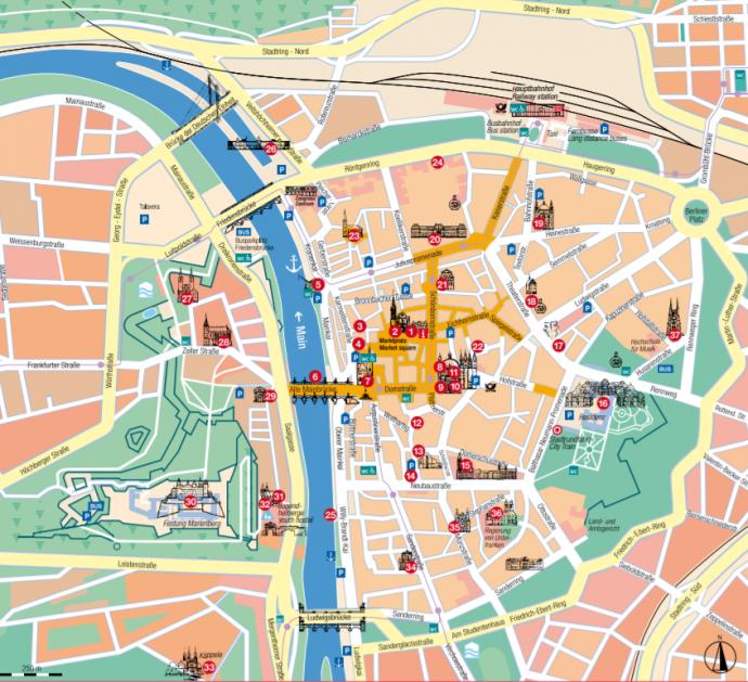 ヴュルツブルク地図